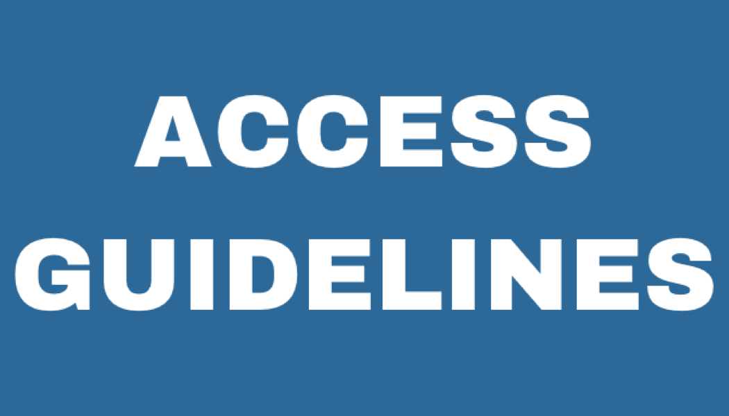 Click here for 'Access guidelines'