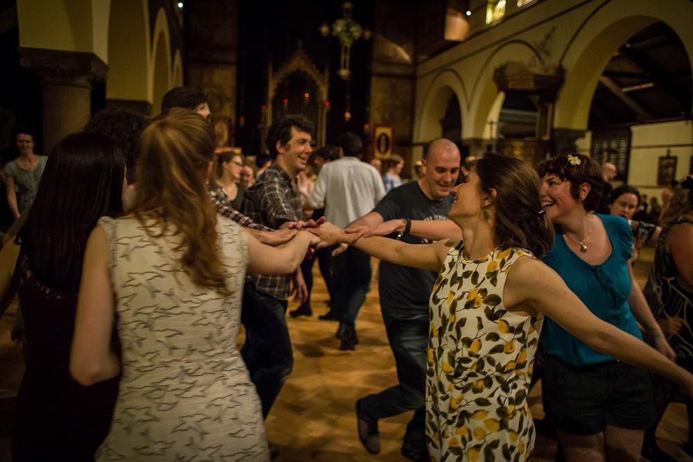 dancers at the ceilidh